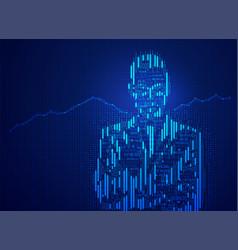 finance person vector image