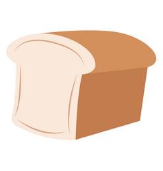 fresh bread on white background vector image