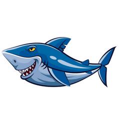 Great white shark mascot vector