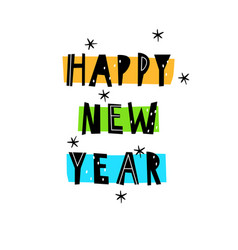 Happy new year inscription on t-shirts vector
