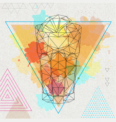 Hipster polygonal cocktail long island vector