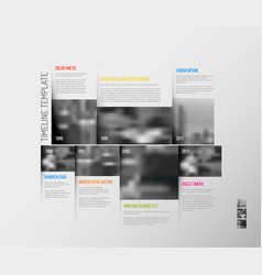 Infographic timeline template with big photos vector