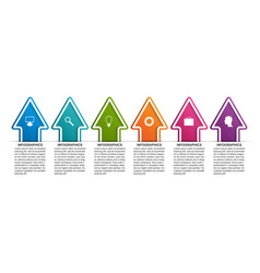 Infographics template with arrows infographics vector