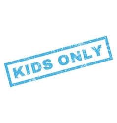 Kids only rubber stamp vector