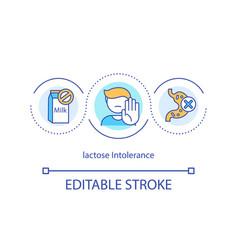 Lactose intolerance concept icon vector