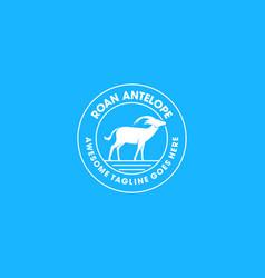 logo roan antelope vintage bade vector image