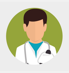 male doctor medical design icon vector image