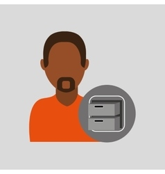 Man file cabinet icon design graphic vector