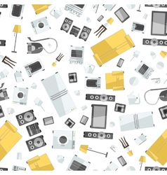 Mess of colorfull icons house appliance seamless vector