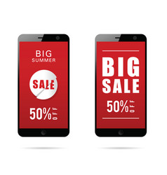 mobile phone with big sale on it vector image