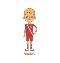 National russia soccer football player vector image