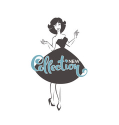 New collection arrivals new look style girl vector