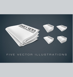 Newspapers isolated vector