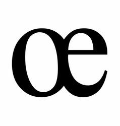 Oe ligature latin small letter vector