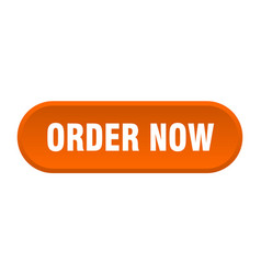 Order now button order now rounded orange sign vector