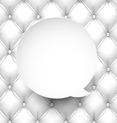 Paper white round speech bubble vector image