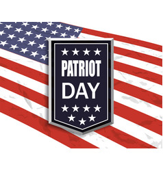 Patriot day national flag on white background vector