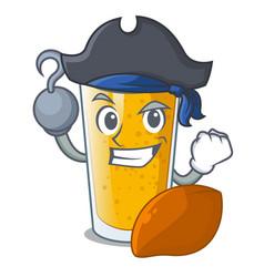 Pirate lassi mango in a cartoon glass vector