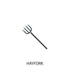 Pitchfork icon simple gardening element symbol vector