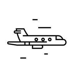 plane journey line icon concept sign outline vector image
