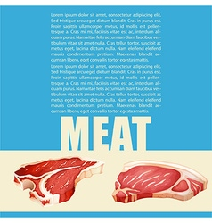 Poster design with meat and text vector image