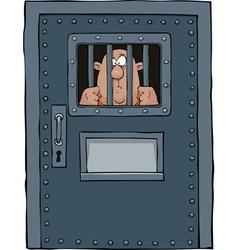 Prison door with a prisoner vector