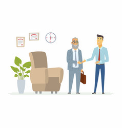 Productive business communication - modern cartoon vector