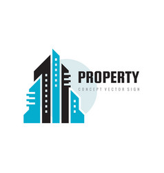 property management city town - real estate vector image