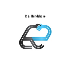 R- letter icon abstract logo design vector