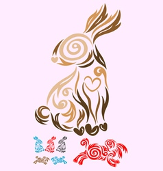 Rabbit ornate vector image