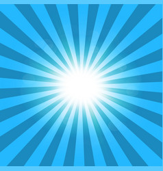 ray blue background sun vector image
