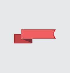 red ribbon vector image