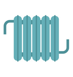 Retro iron central heating battery icon isolated vector