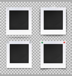 retro photography square empty frames vector image