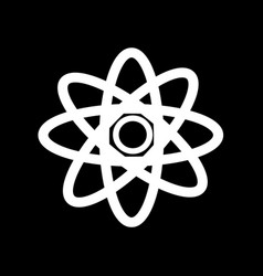 science icon atom icon design vector image