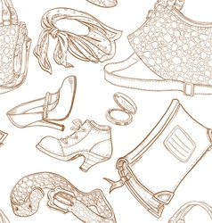 Seamless pattern female clothing and leather vector