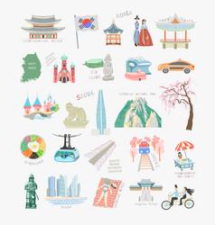 set 25 doodle flat sights vector image