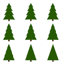 Set christmas trees christmas tree vector