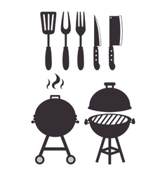 set grills menu tools design isolated vector image