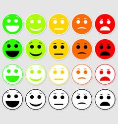 Set of emoticons emoji level rank load vector