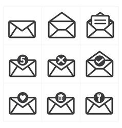 Set of icon for mail vector image vector image
