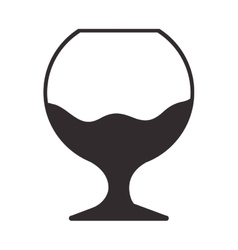 Silhouette monochrome with wine glass vector