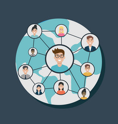 social network media flat design vector image