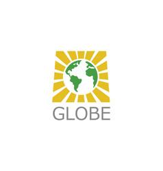 square globe logo vector image