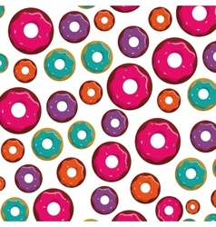 sweet delicious donut icon vector image
