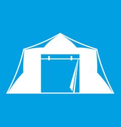 tent icon white vector image