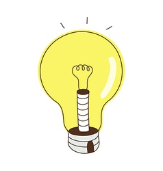 The lighted lamps vector