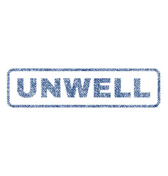 unwell textile stamp vector image