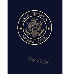 Wedding invitation passport vector image