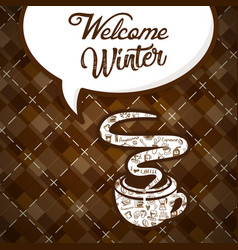 Welcome winter coffee cup image vector